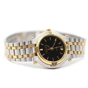 Gucci Vintage Two Tone Date Gold Plated Watch